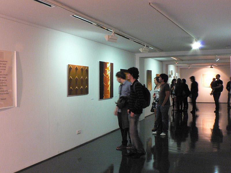 Umbra, vista de la exposición en Galería Sargadelos. A Coruña. 2010