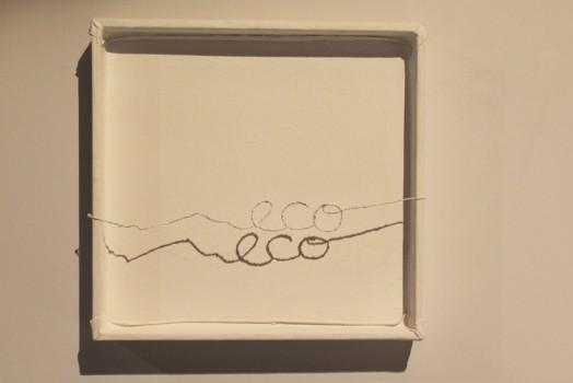 Jorge Couceiro. Eco. 2012.Técnica-mixta, 47 x 49 x 10 cms.